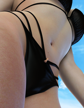 Collission experiment - Inside her bikini by Evel-Inc