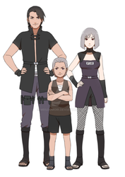 Hidan and his parents by Rarity-Princess