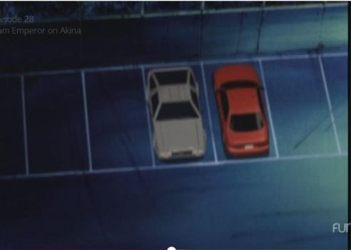 The DeLorean in Initial D by LeafSoto