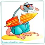 Surfer rat by bassanimation