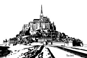 Mont Saint-Michel by Asynja