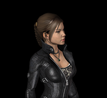 Lara 2013 catsuit, wip1 (closeup) by tombraider4ever