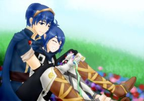 PC: Marth and Kana by Darkie4Eva