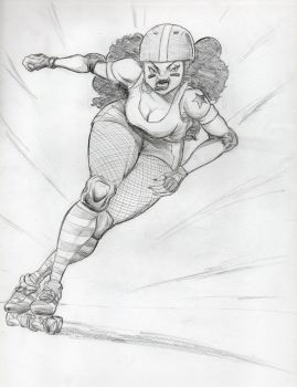 Roller Derby Girl by rkw0021