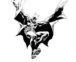 Batman by Ivan Reis - Inks by adr-ben
