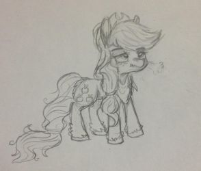 Scrunchy Workhorse (Uncoloured) by OrangeJuicee