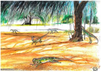 Silesaurids and indet. Dicynodonts by PedroSalas