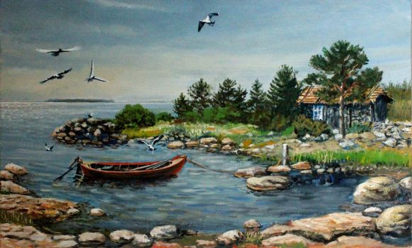 An old fish cottage outside from Hailuoto by JoreJarvis
