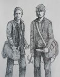 Sam and Dean Winchester by Wolfie180g
