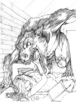What big teeth you have... - pencils by Gido