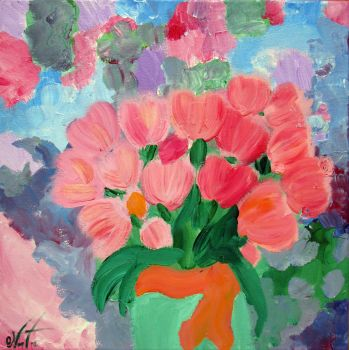 Pink Tulips by Cantecel