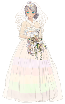 Lin Wedding Dress ver by fastylilac