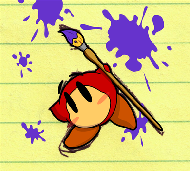 Waddle Dee with a Paint Brush by Hydra-Hunter