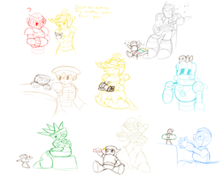 Baby Wood With Alexander No.s Sketches by SnowmanEX711