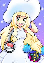 Lillie and Nebby by CherryCandyCrimson