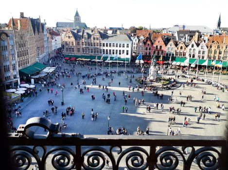 View from Bruges belltower - 1 by wildplaces