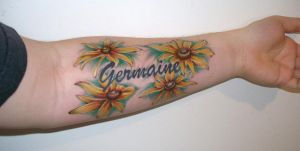 Flower tattoo by cosmicspider