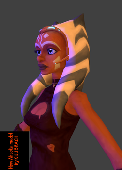 My new Ahsoka model - first render by Kulibrach