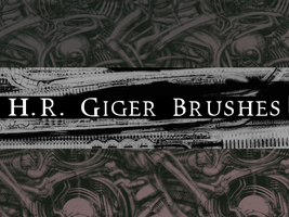 H.R. Giger Brushes by MaxPowersXx