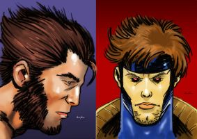 Gambit Wolvie Cards by AJthe90skid