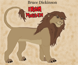 Bruce Dickinson Lion by angelbelievers
