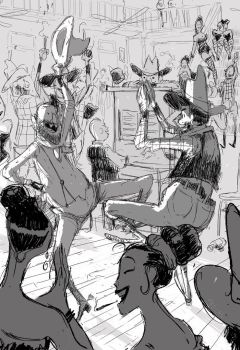 Just another Wednesday down at the saloon. by PascalCampion