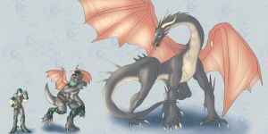 Art Trade: Dragon Hawke by Lucern7