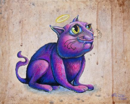 Purple Cat by SamFoote