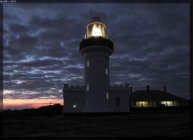 Point Perpendicular Lighthouse - Night by JohnK222