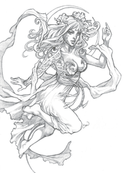 Witchblade Pencils by emilywarrenart