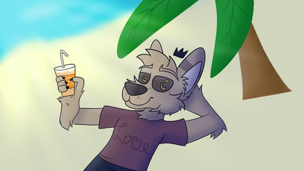 Chilling On the Beach - Commission for Doqbot by XxGoldenSketchxX
