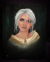 -Ciri Oil Painting- by SoulRansome