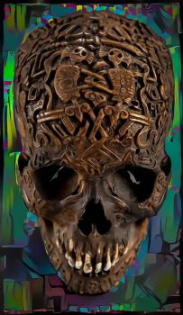 Dream Tibetan Skull by DonkehSalad23