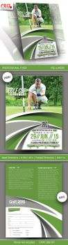 Golf Cup Tournament Flyer Template - 3 by Redshinestudio