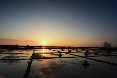 salt pan, country and sunset by darkage3461