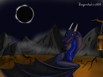 Moonlight and the eclipse by Dragonhawk2112
