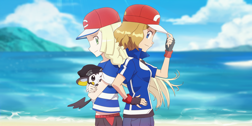 Commission: Serena and Lillie by DaDonYordel