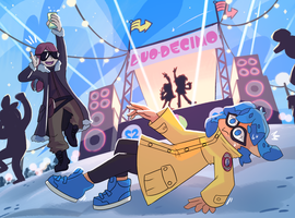 Slip-hop. Splat-Squadrons with Krona by Drakeven