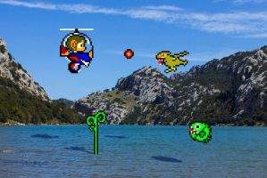 Real Bits - Alex Kidd in Miracle World: Helicopter by VictorSauron