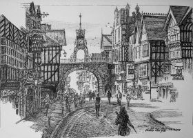 Chester East Gate by LotharZhou
