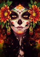 Commission: Dia De Muertos by dimary
