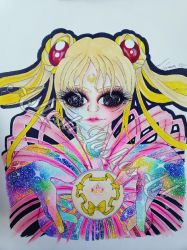 Sailor Moon Transformation  by AshestoLashesArt