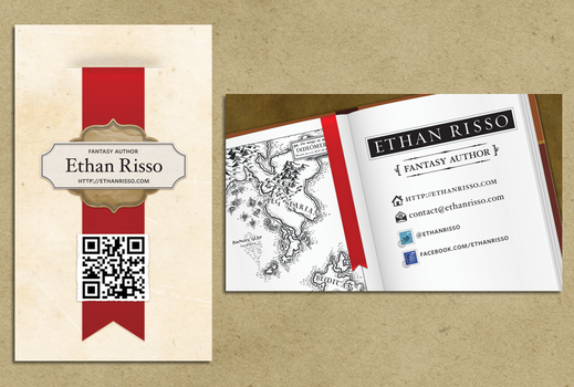 Business Cards - Ethan Risso by mocha-san