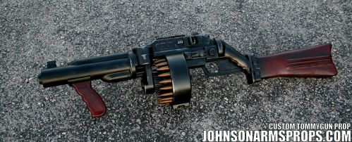 Diesel Punk Style Tommy Gun Prop by JohnsonArmsProps