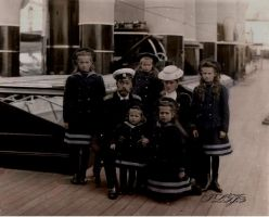 The Imperial family onboard the Polar Star in 1907 by Linnea-Rose