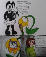 Ask Bendy and Flowey: plushie issues by Ally-Kats