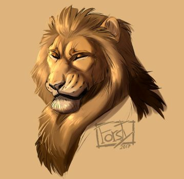 Golden Lion by forstyy