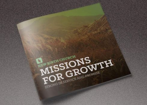 Missions for Growth Church Brochure Template by loswl