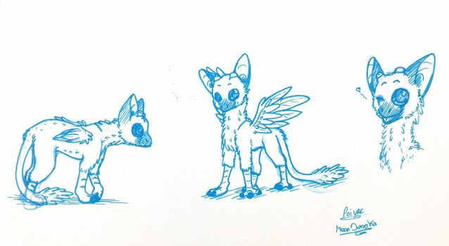 Trico Chibi version - The Last Guardian by moondaneka