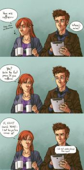No coffee for Time Lords by anni-viech